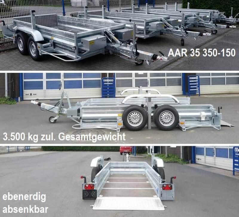 Anhängliche Neuzugänge: Die Absenk-Anhänger AAR 35 350-150 präsentieren sich startklar für vielseitige Transportaufträge. Hier mehr Infos!