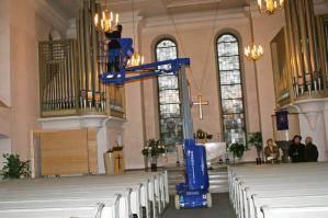 Auch in heiligen Hallen muss für Sicherheit gesorgt werden: Die TMB 102 E hilft!